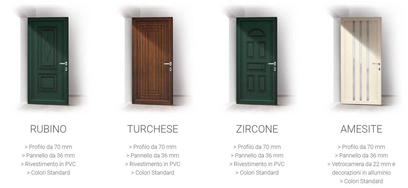 Colori Pannelli Porte Blindate portoncini in pvc